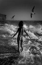 СВОБОДА / Море, волны, девушка, экспрессия, свобода