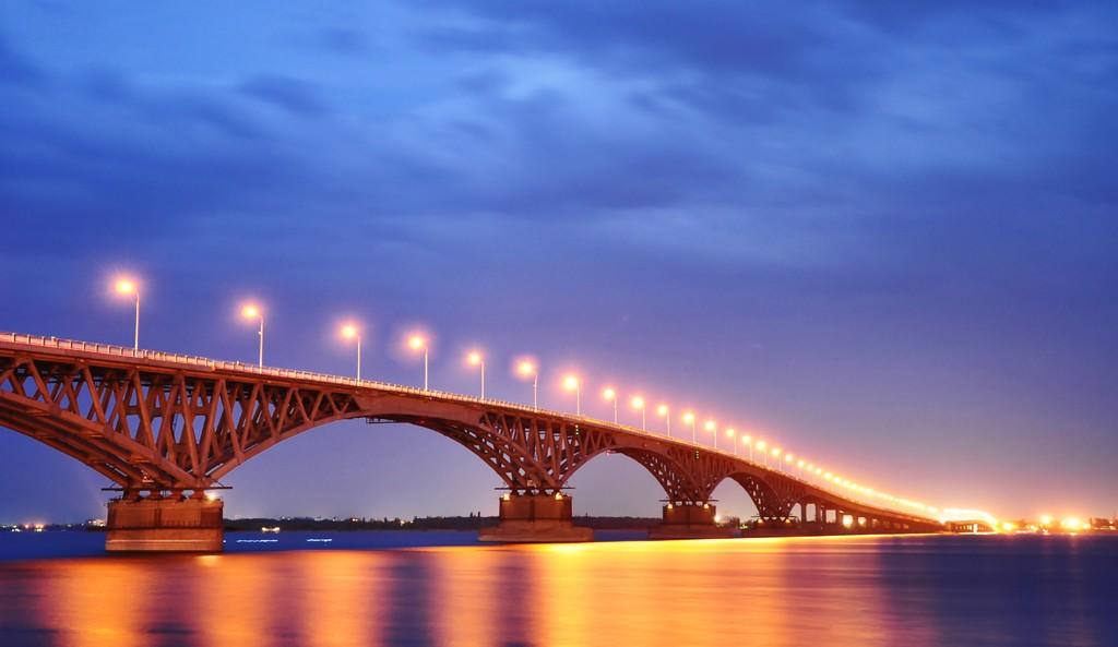 Рисунок моста саратов