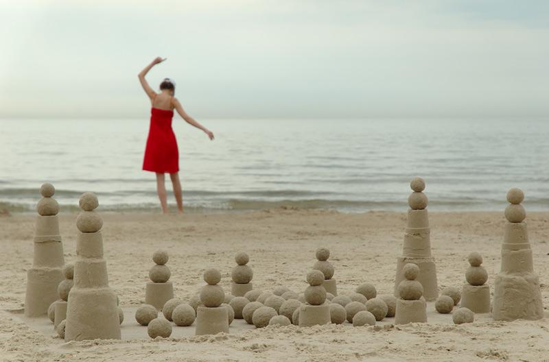 Песочная любовь / Балтийское море, Паланга По всему побережью было масса песочных построек, начиная от детских пирамид и до сказ