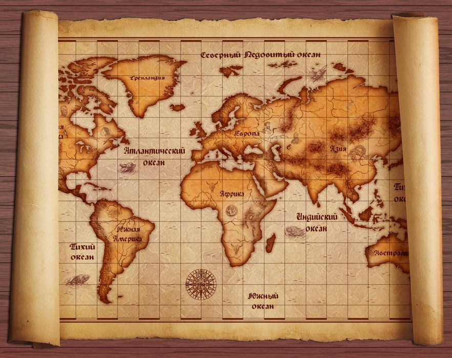 пиратская карта / нашёл на
