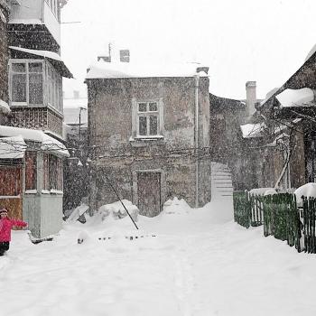 Одесский дворик зимой