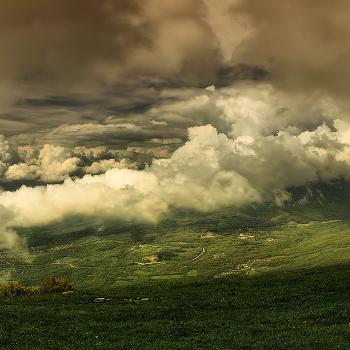 Горы, Небо, Люди, Облака